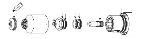 замена расходных деталей на плазморезе hpr130xd